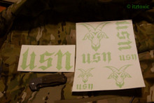 USN Sticker Set, Toxic Green