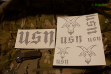 USN Sticker Set, Black
