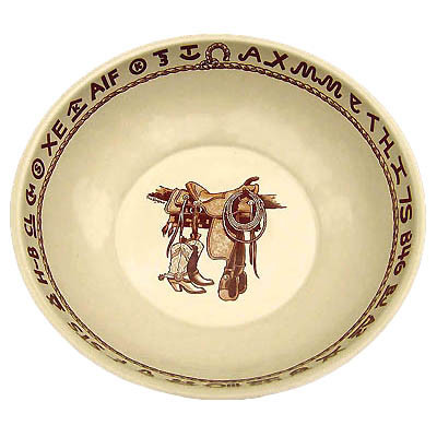 Boots & Saddle Bonanza Bowl 13''wide 4'' deep