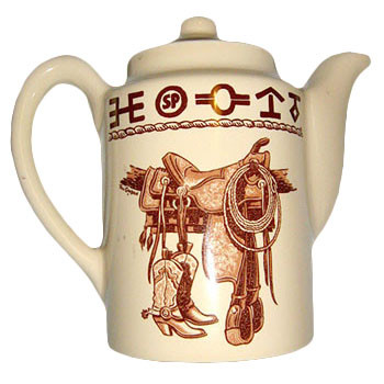 Boots & Saddle Coffee Server / Tea Pot 36 oz