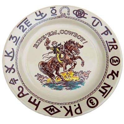 Little Buckaroo Plate 9.5-inch
