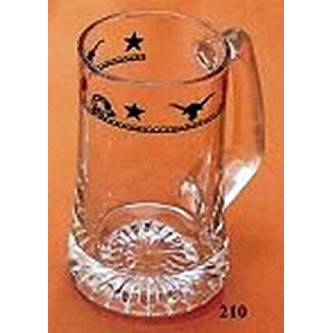 Western Beer Mugs Ropes, Stars and Longhorns 15 oz 4 pieces
