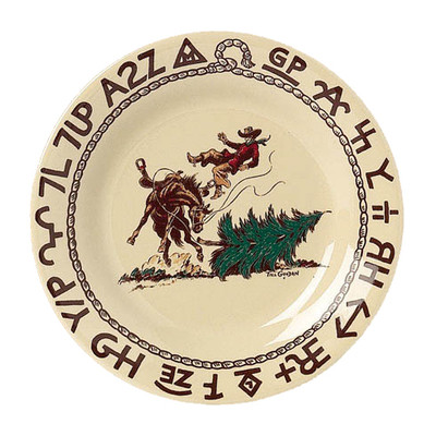 Western Dinnerware Christmas Cowboy Dessert Plate 7.5-inch OUT OF STOCK