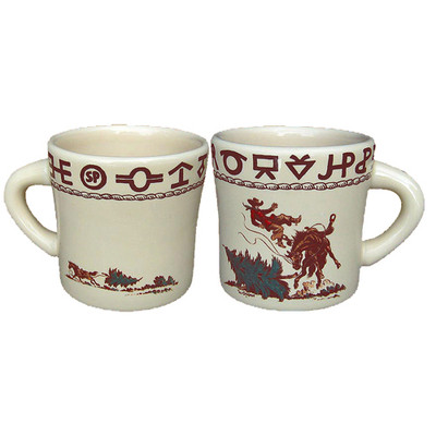 Western Dinnerware Christmas Cowboy Texas Mug 12 oz
