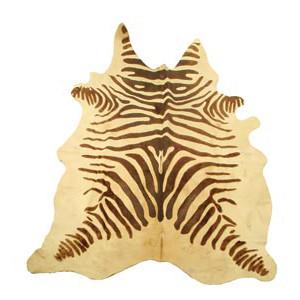 Black &Tan Cowhide Rug Rustic Zebra