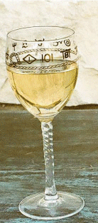 Western Wine Glasses Ropes and Brands 8 oz. (set of 4)