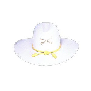 Civil War Custom Cowboy Hat Yellow Bullet Hatband