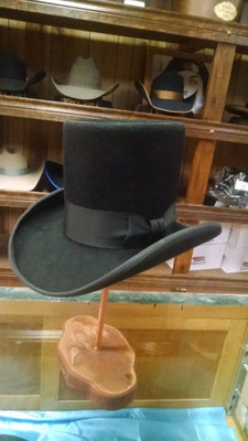 Classic Black Tophat Custom Hat