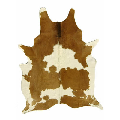 Natural Cowhide Rug - Brown and White Special