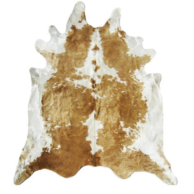 Natural Cowhide Rug - Beige and White Special