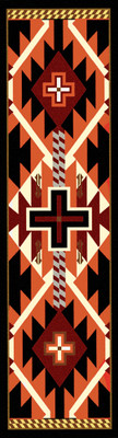 Rustic Cross - Black - 2'x8'