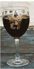 Western Goblet Glasses - Saddle - Set of 4