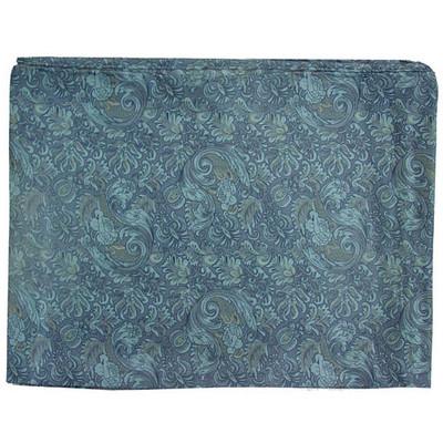 Wild Rag Silk Scarf 42 Inch Frontier Calico Blue #8