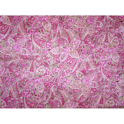 Wild Rag Silk Scarf 42 Inch Frontier Calico Pink Floral Paisley