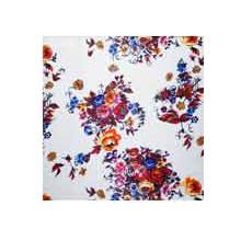 Wild Rag Charmeuse Prints White Bouquet