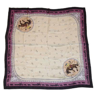 Wild Rag Silk Scarf Limited Edition Brand Beige