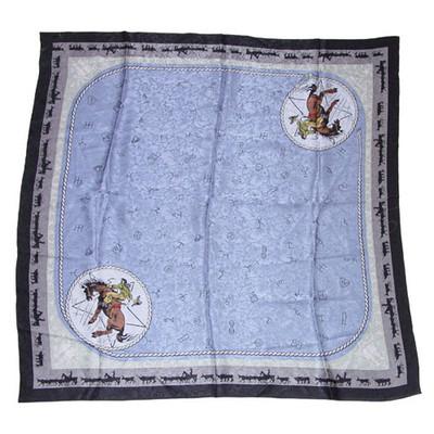 Wild Rag Silk Scarf Limited Edition Brand Blue