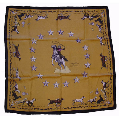 Wild Rag Silk Scarf Limited Edition Mustang Tan