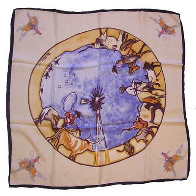 Wild Rag Silk Scarf Limited Edition Windmill Ivory