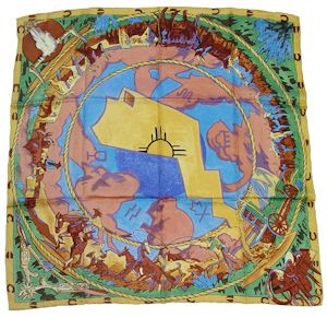 Wild Rag Silk Scarf Limited Edition Cattle Drive