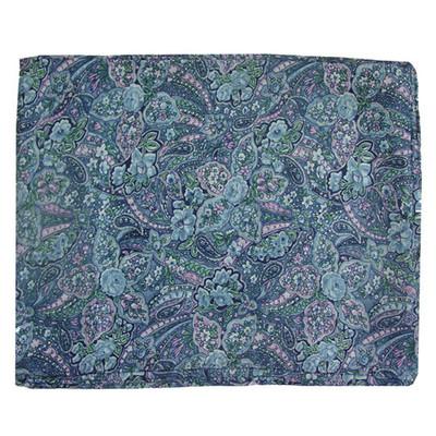 Wild Rag Silk Scarf Calico Blue Paisley