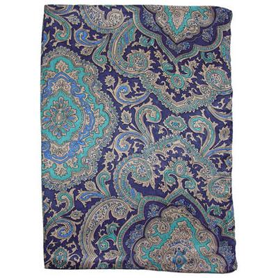 Wild Rag Silk Scarf Paisley Blue/Gold