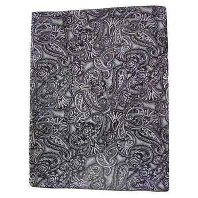 Wild Rag Silk Scarf Paisley Silver/Smoke