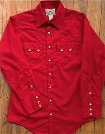 Red Sawtooth Western Shirt        RW-640