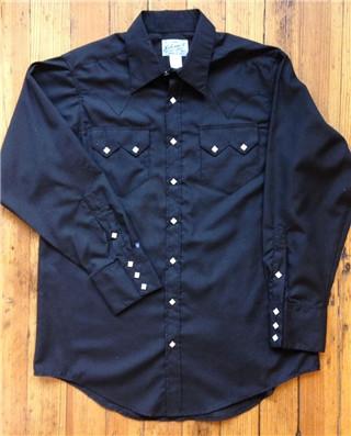 Black Sawtooth Western Shirt