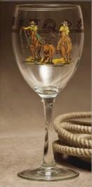 Team Roper Wine Glass/ Stemware - 15.5 oz. (Set of 4)