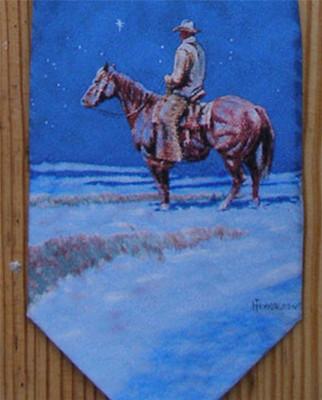 Snow Painting Silk Tie