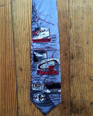 Red West Coast Silk Tie