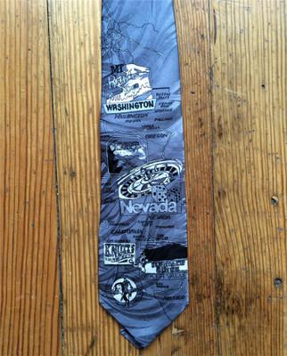 Grey West Coast Silk Tie