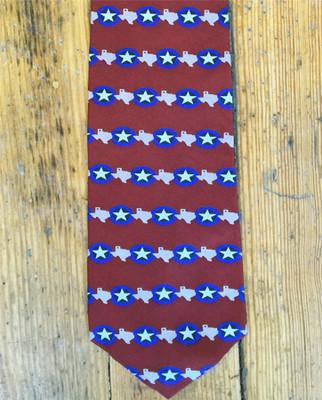 Texas Star Silk Tie