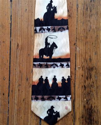 Riders Silhouette Silk Tie