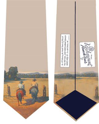 """""""Working the North Pasture"""" Silk Tie"""