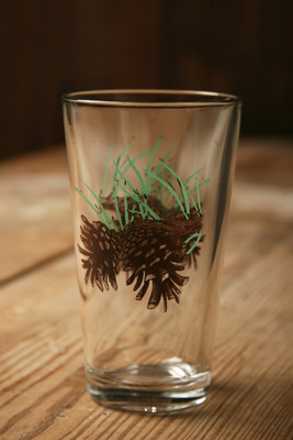 Wilderness Tumbler Glasses - Pinecone - 20 oz. (Set of 4)