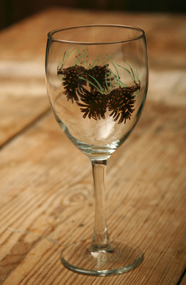 Wilderness Goblet - Pinecone - 15 oz. (Set of 4)