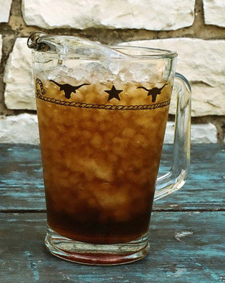Ropes, Stars and Longhorns Glass Pitcher -  60 oz.