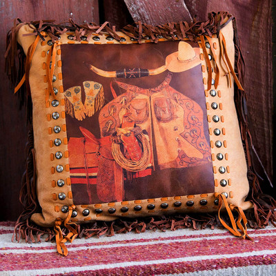 Cowboy Gear Pillow