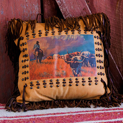 Cattle Drive Pillow