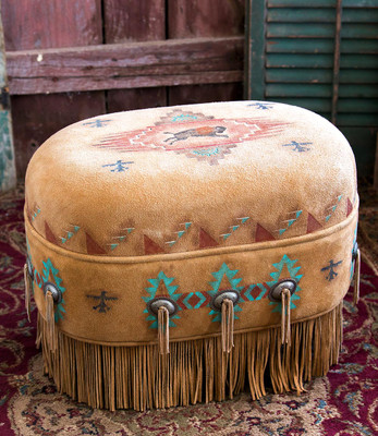 Buffalo Spirit Ottoman