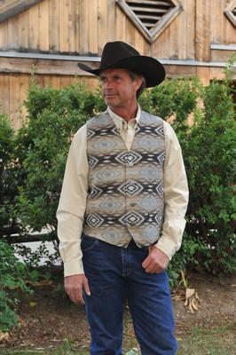 Diamond Back Tapestry Vest