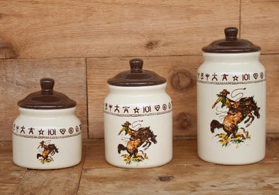 Bronco Rider Canister Set