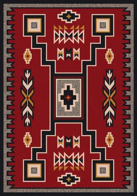 American Dakota Rug - Old Crow - Red