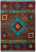 American Dakota Rug - Whisky River - Turquoise