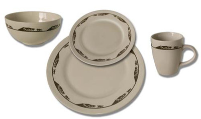 Running Horses Western Dinnerware (Set of 16)