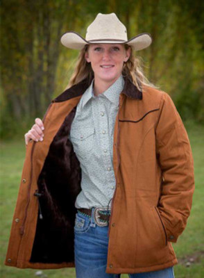 Wyoming Traders Women's Canvas Ranch Coat