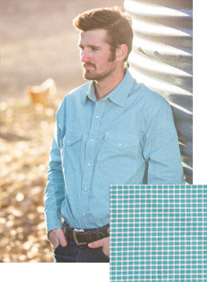 Wyoming Traders Printed Green/White Shirt