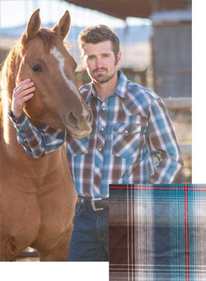 Wyoming Traders Printed Blue/Brown Shirt